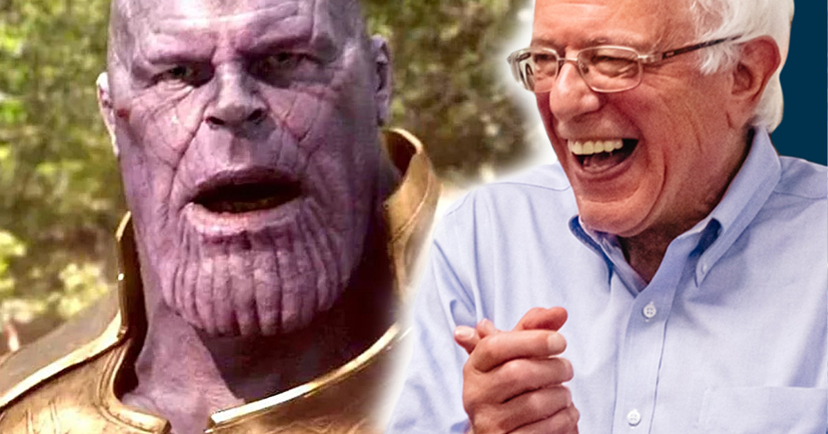 Bernie Sanders Announces Thanos As His Running Mate Teases Ted Cruz |  Cosmic Book News
