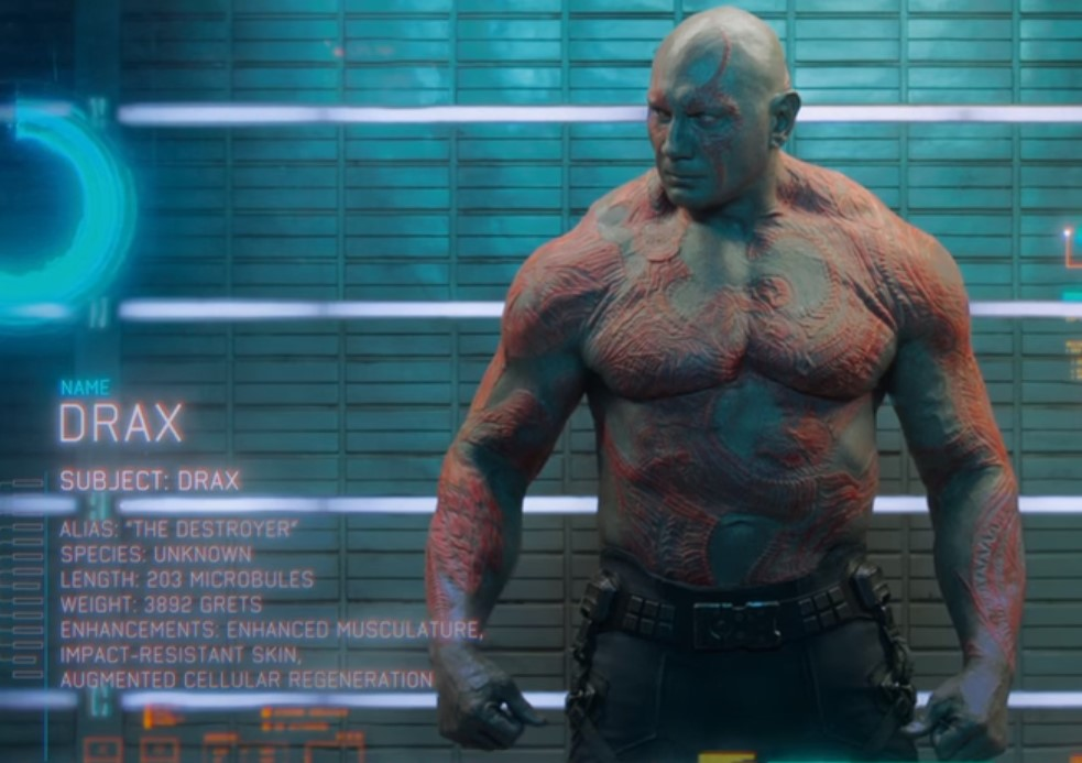 Guardians of the Galaxy mugshot scene