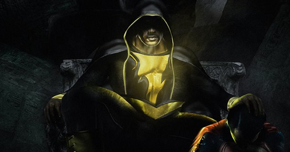 Dwayne Johnson Comments On Black Adam Vs Superman Fan Art