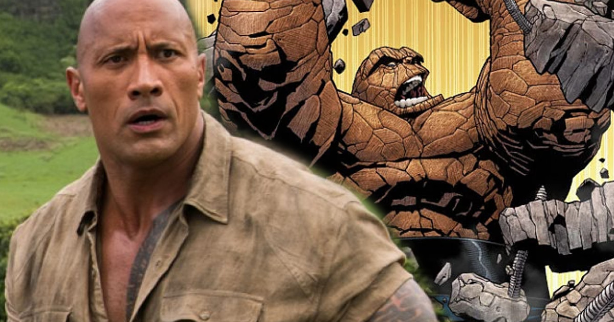 Dwayne Johnson Marvel Fantastic Four The Thing