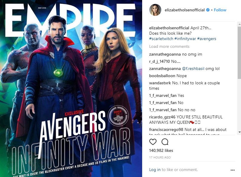 Elizabeth Olsen Calls Out 'Empire' Magazine for Photoshopping Her Face
