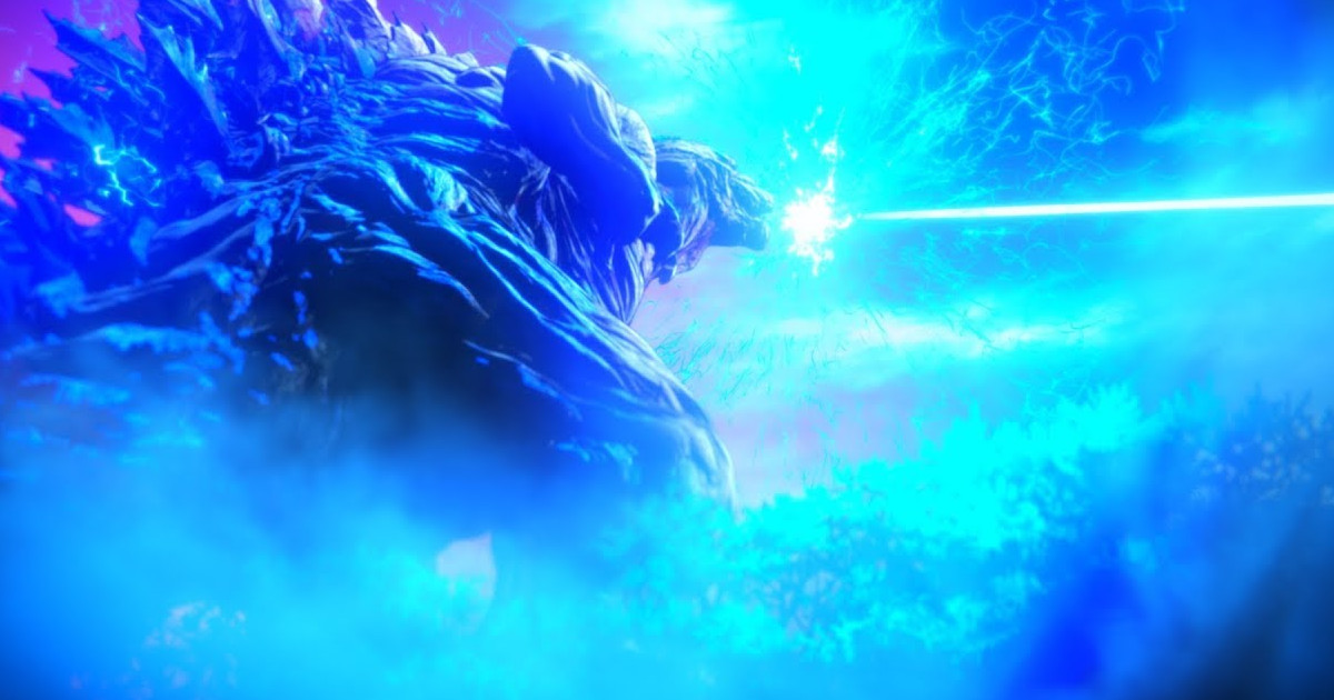 Godzilla anime film's first full trailer previews themesong