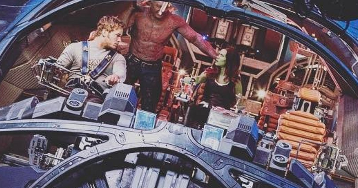 Milano In Trouble In New Guardians of the Galaxy 2 Set Image