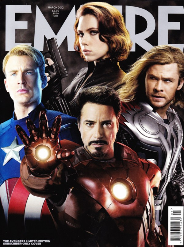 The Avengers movie empire magazine cover