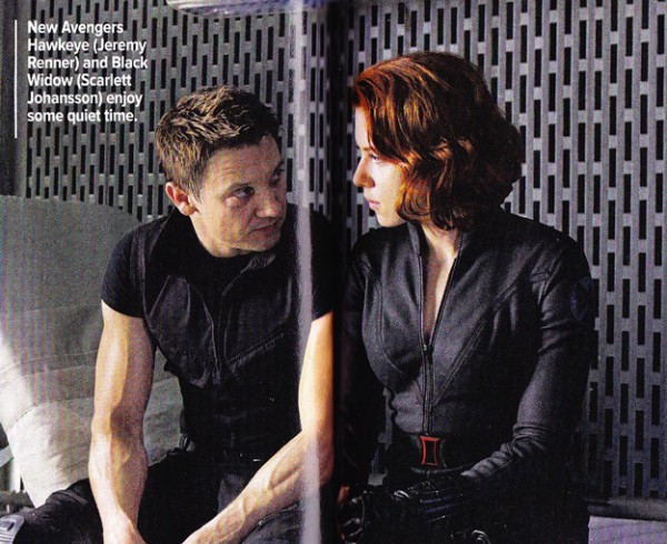 The Avengers Movie Black Widow and Hawkeye