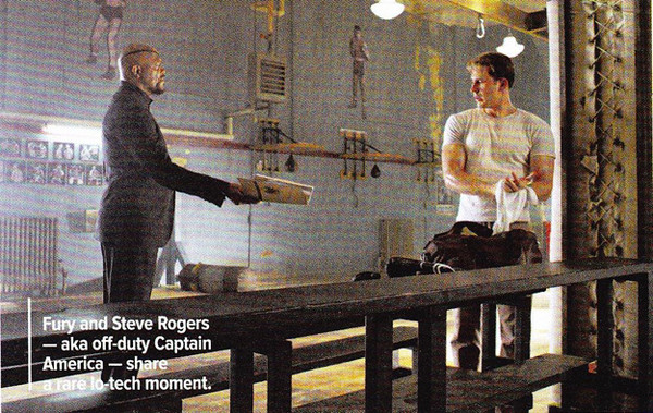 The Avengers Movie Captain America and Nick Fury