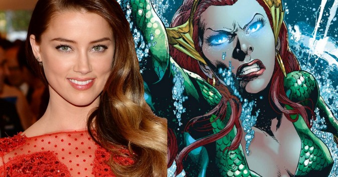 Amber Heard joins cast as Aquaman's wife Mera; Darkseid as villain?