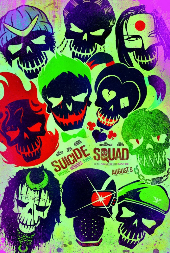 Suicide Squad Styled Skulls
