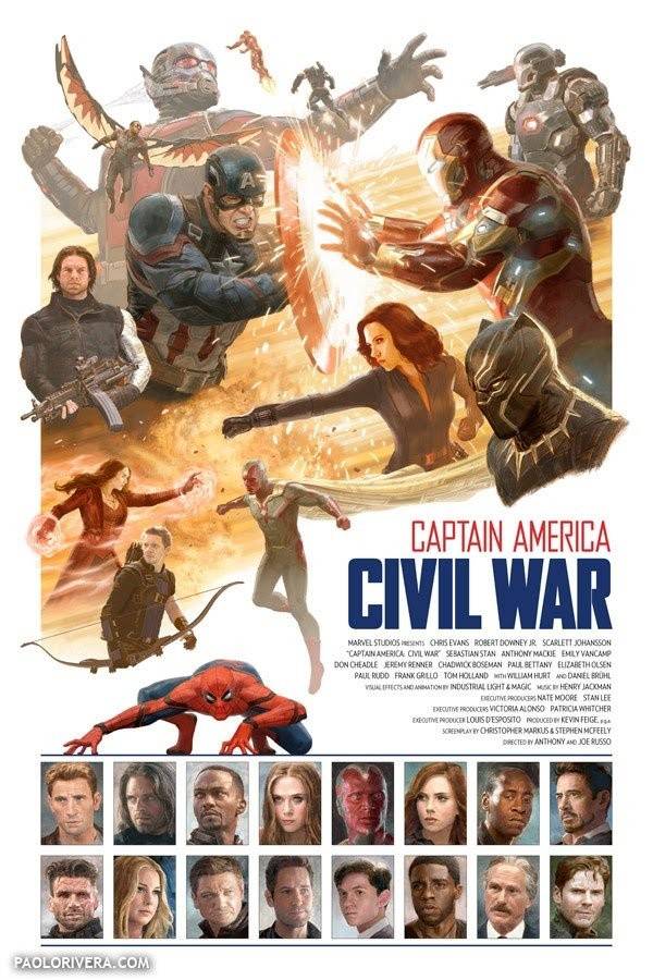 Captain America Civil War Poster Features Spider Man