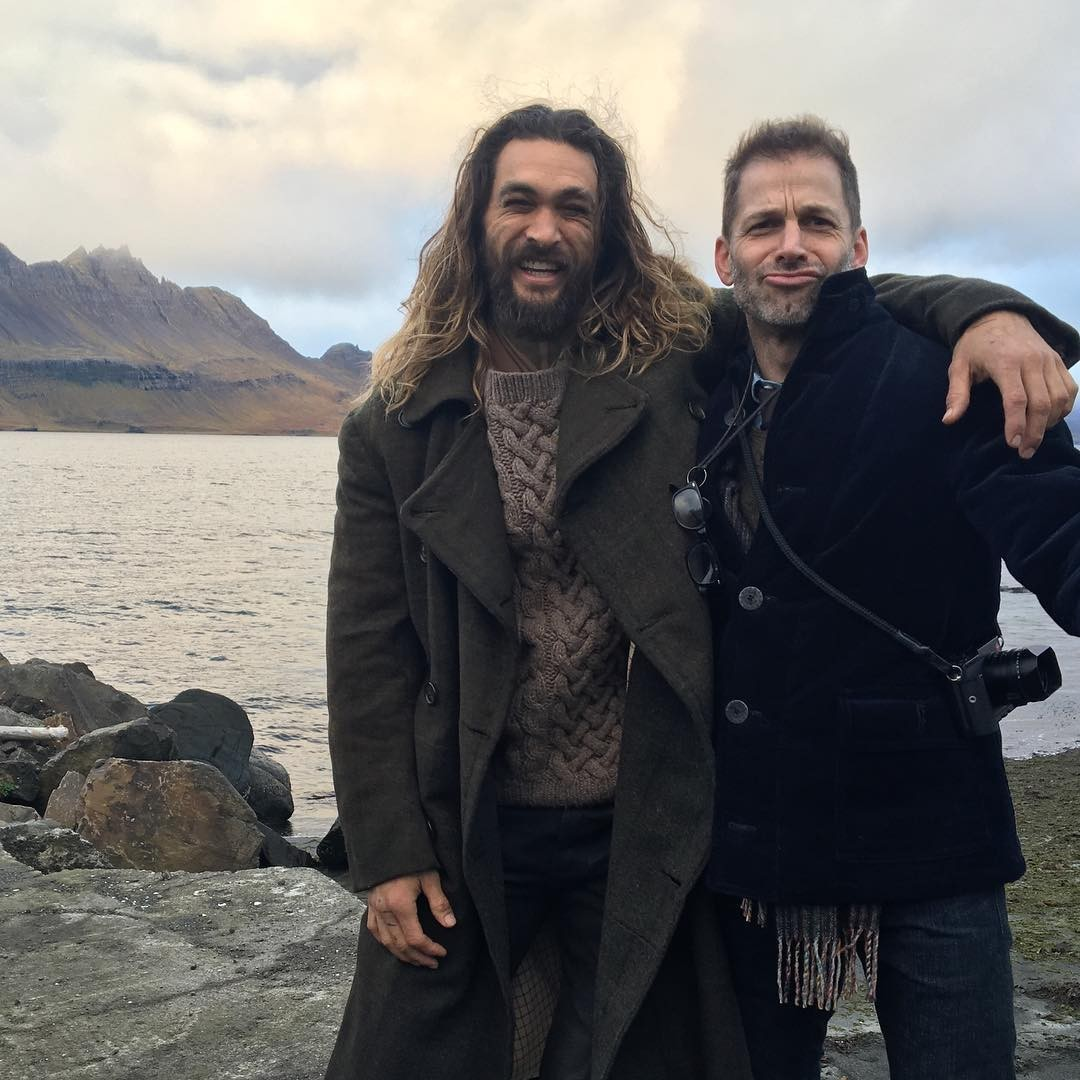 Jason Momoa & Zack Snyder In Iceland For Justice League