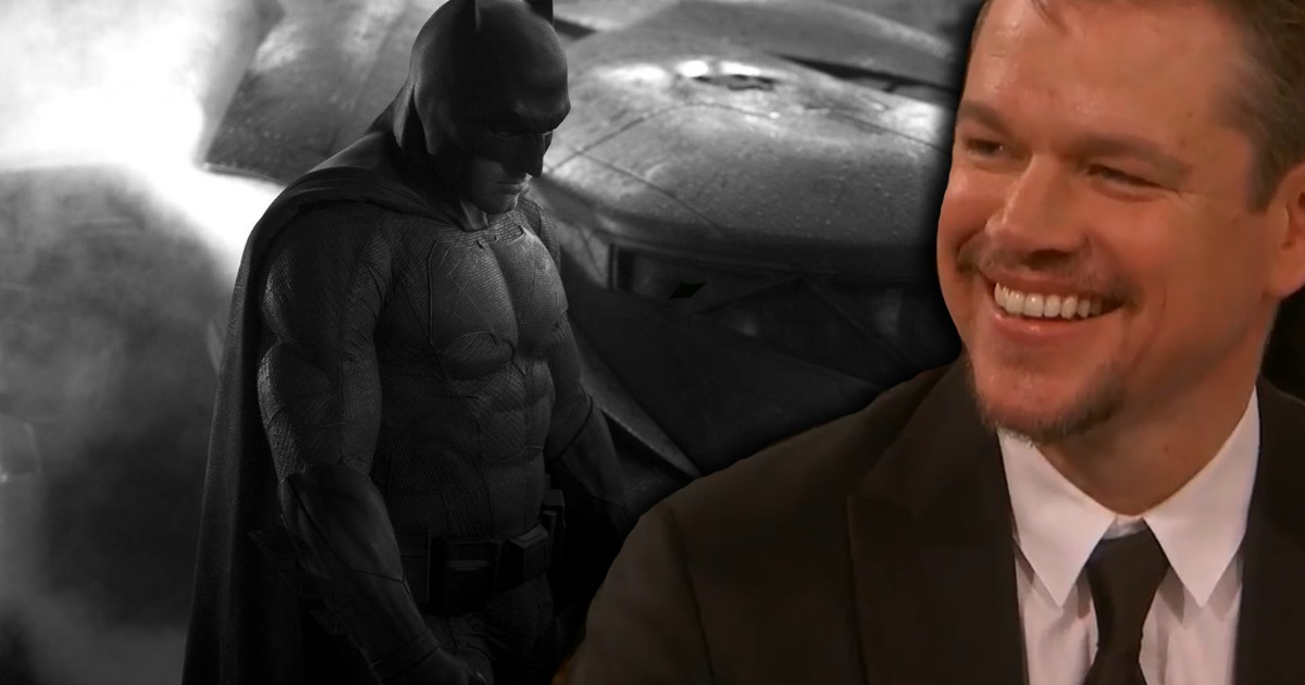 Watch: Jimmy Fallon's Golden Globes Matt Damon Batman Vs. Superman Joke