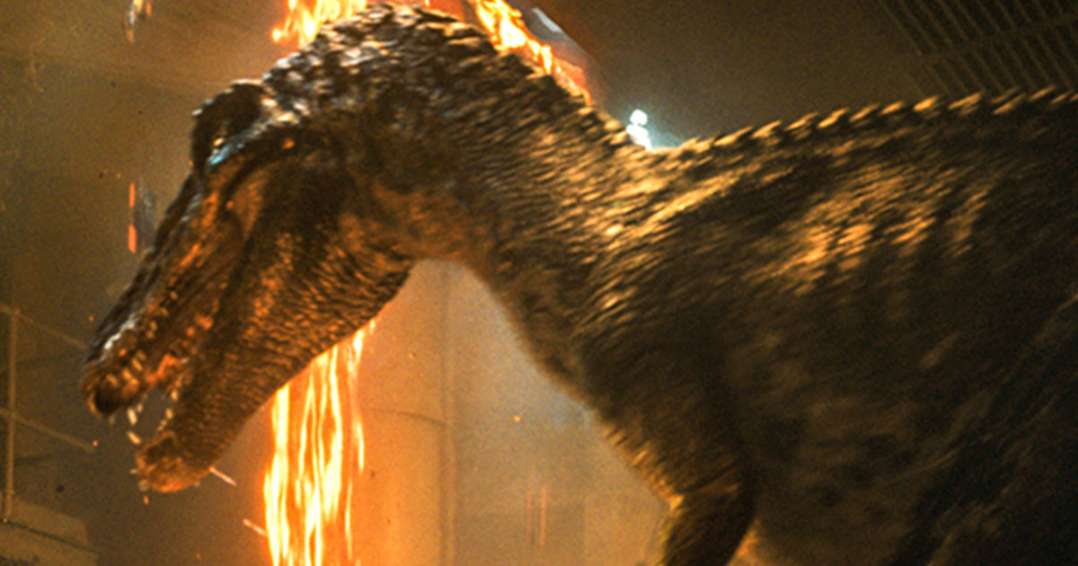 Fallen Kingdom first look stares down a dinosaur