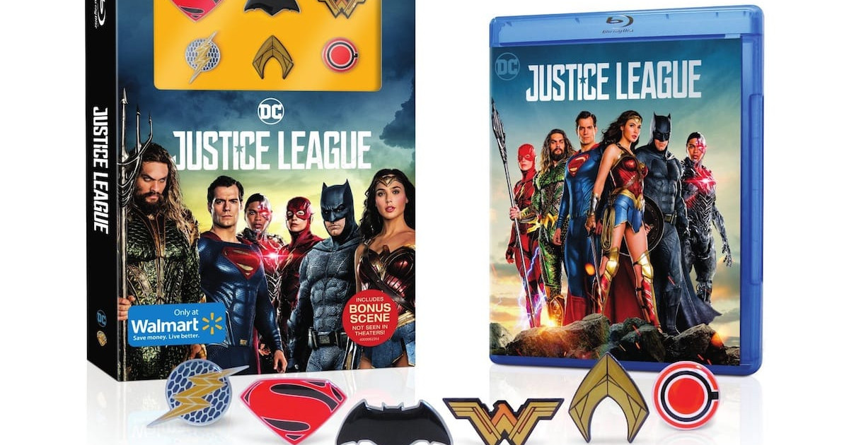 Henry Cavill Superman Featured On Justice League Blu-Ray Box Art
