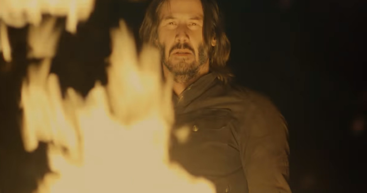 Keanu Reeves Is On Fire In Super Bowl Trailer