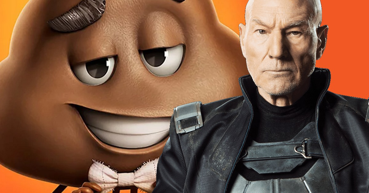 Patrick Stewart to Voice Poop Emoji in 'Emoji Movie'
