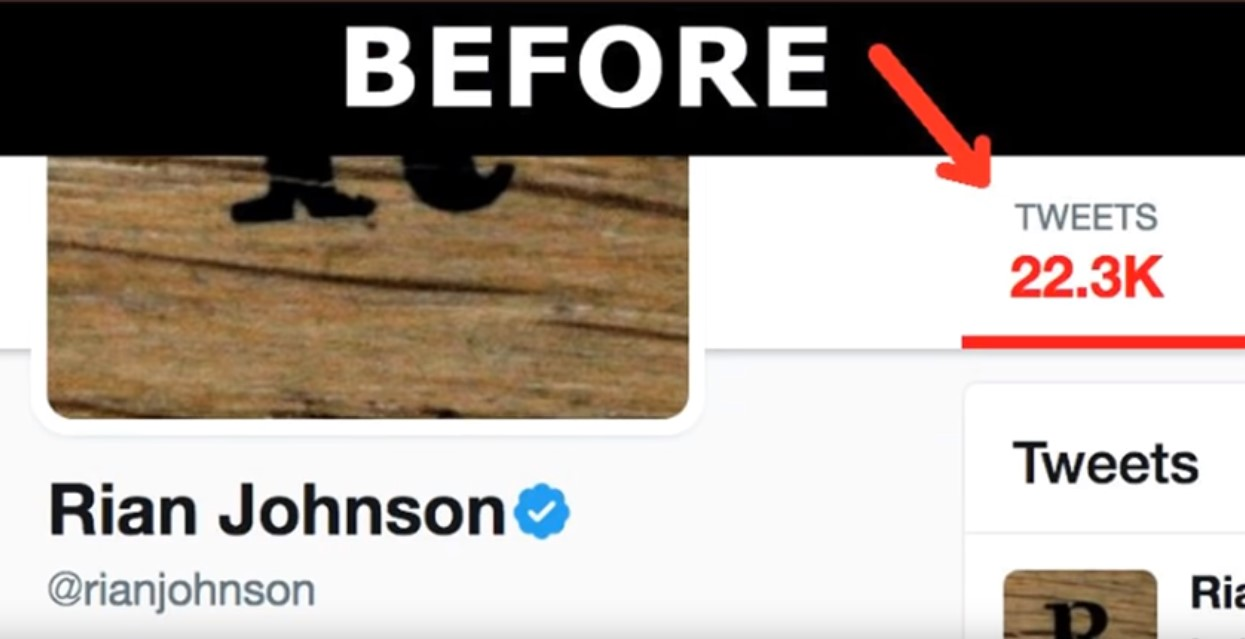 Rian Johnson Deletes Tweets