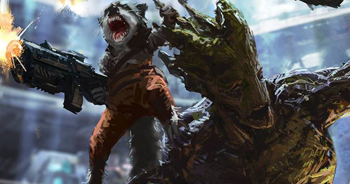 guardians of the galaxy art surfaces rocket groot