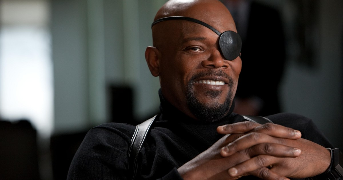 Nick Fury will be without his eye-patch in Captain Marvel