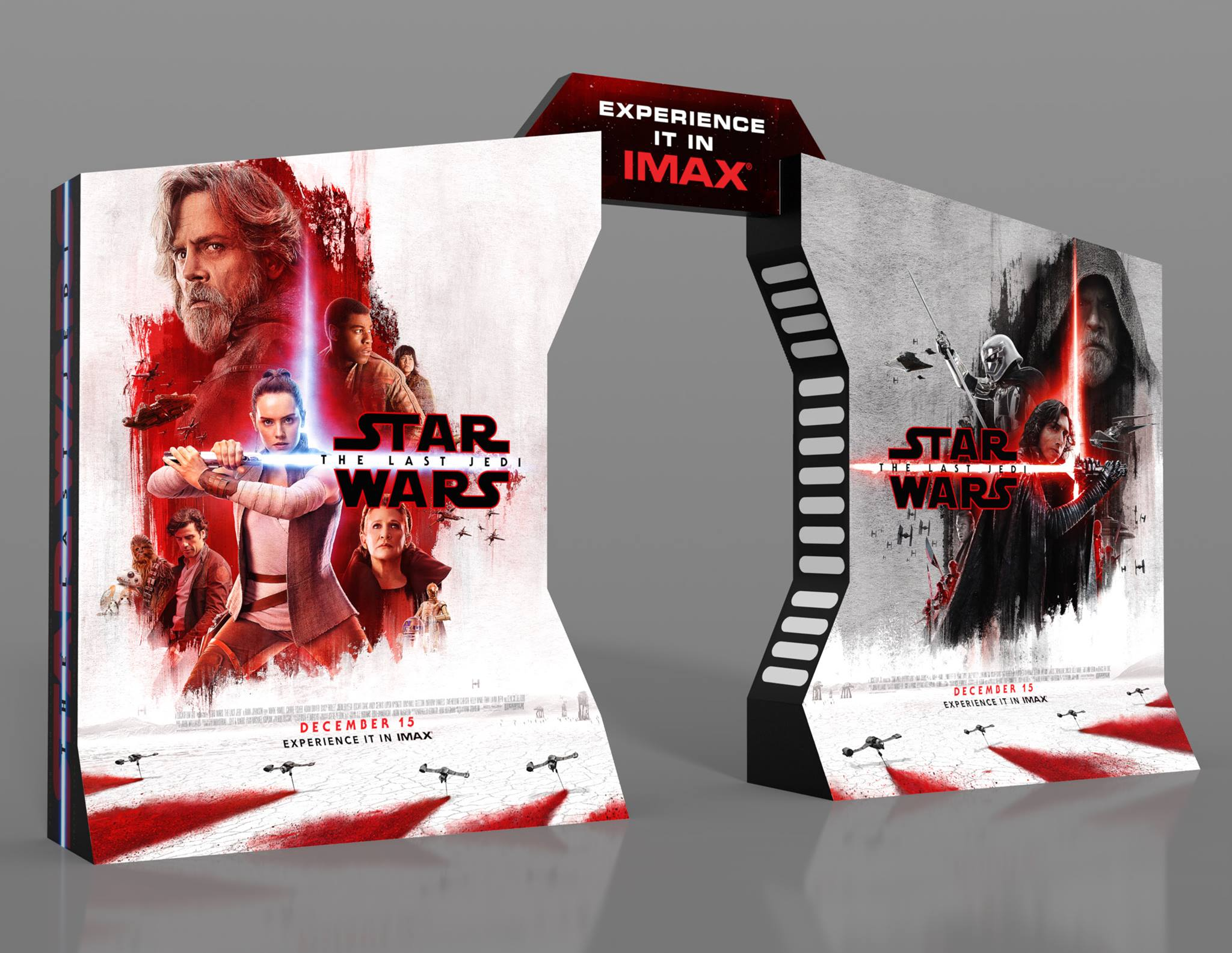 Star Wars: The Last Jedi IMAX display