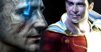 Mark Strong Vs Zachary Levi Shazam! Set Video