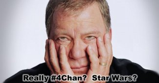 "William Shatner Trolls 4Chan Over Star Wars: ""Get A Life!"""