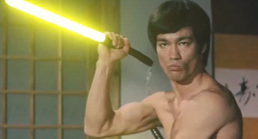 Awesome: Watch Bruce Lee Lightsaber Video
