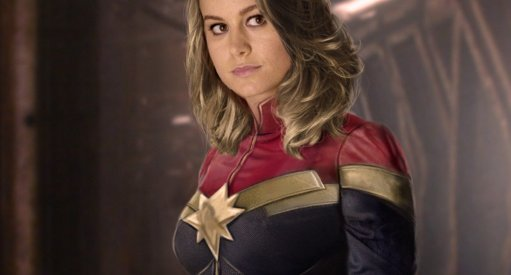 First Look At Brie Larson In Costume As Captain Marvel