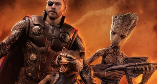 Avengers: Infinity War Hot Toys Thor, Teen Groot and Rocket Racoon Revealed