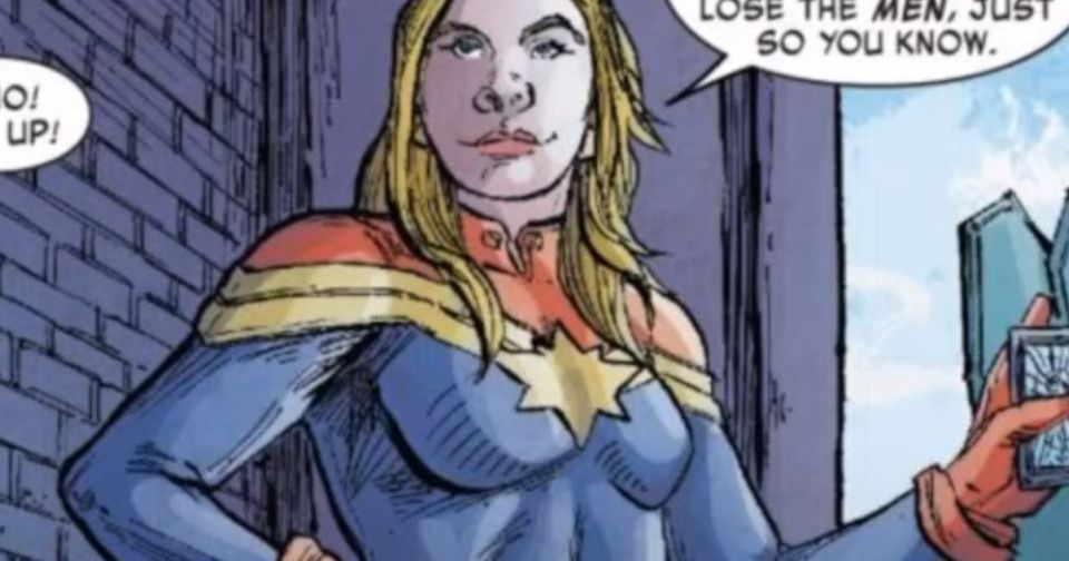 Captain Marvel Says To 'Lose The Men' In New Comic Book