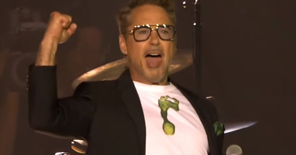 Robert Downey Jr. Surprise Guest At Rolling Stone Concert At Rose Bowl