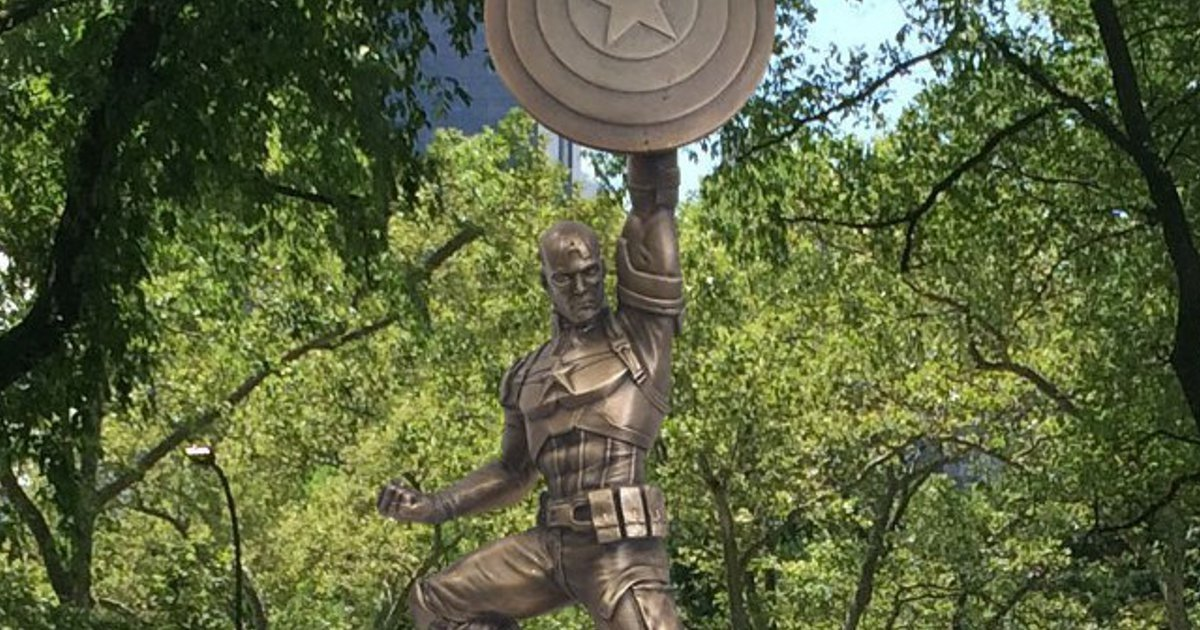 Captain America Statue Comes Home To Brooklyn