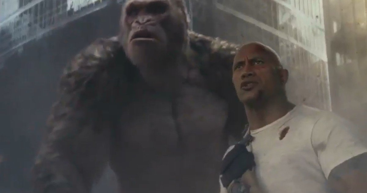Watch Bad Ass New Dwayne Johnson Rampage Trailer