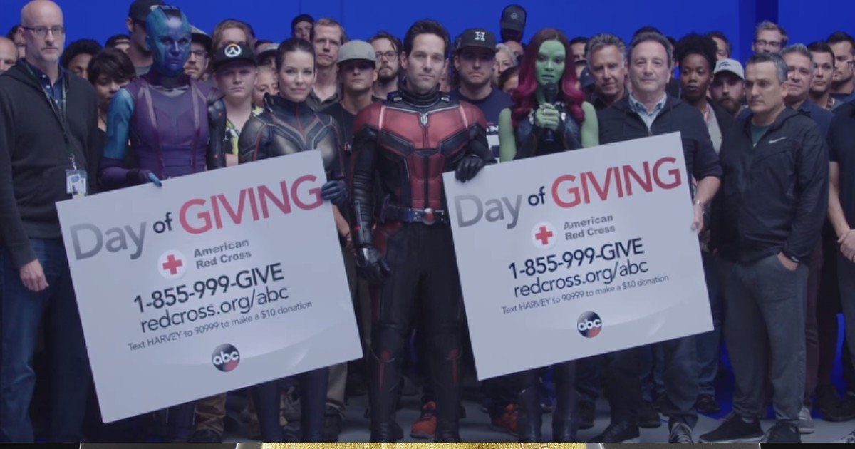 Avengers 4 & Ant-Man and Wasp Casts Supports Hurricane Harvey Victims (Video)