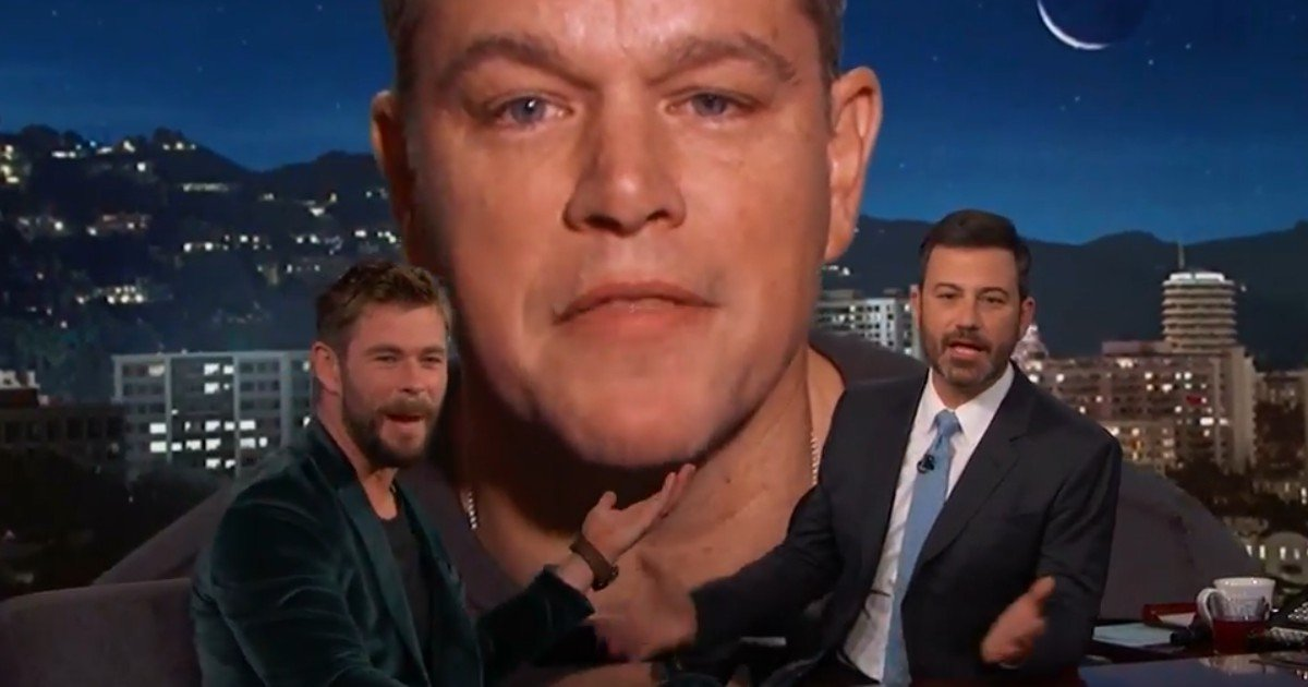 Watch: Matt Damon Crashes Thor: Ragnarok Interview On Jimmy Kimmel