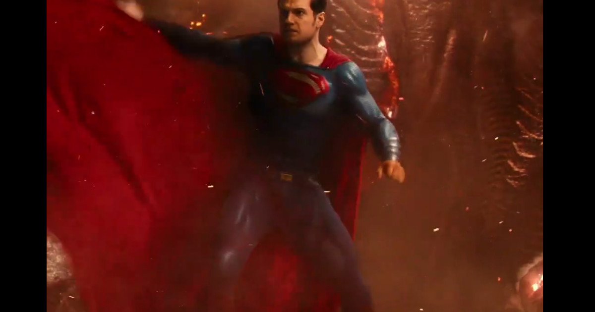 Superman Henry Cavill Justice League Blu-Ray Trailer