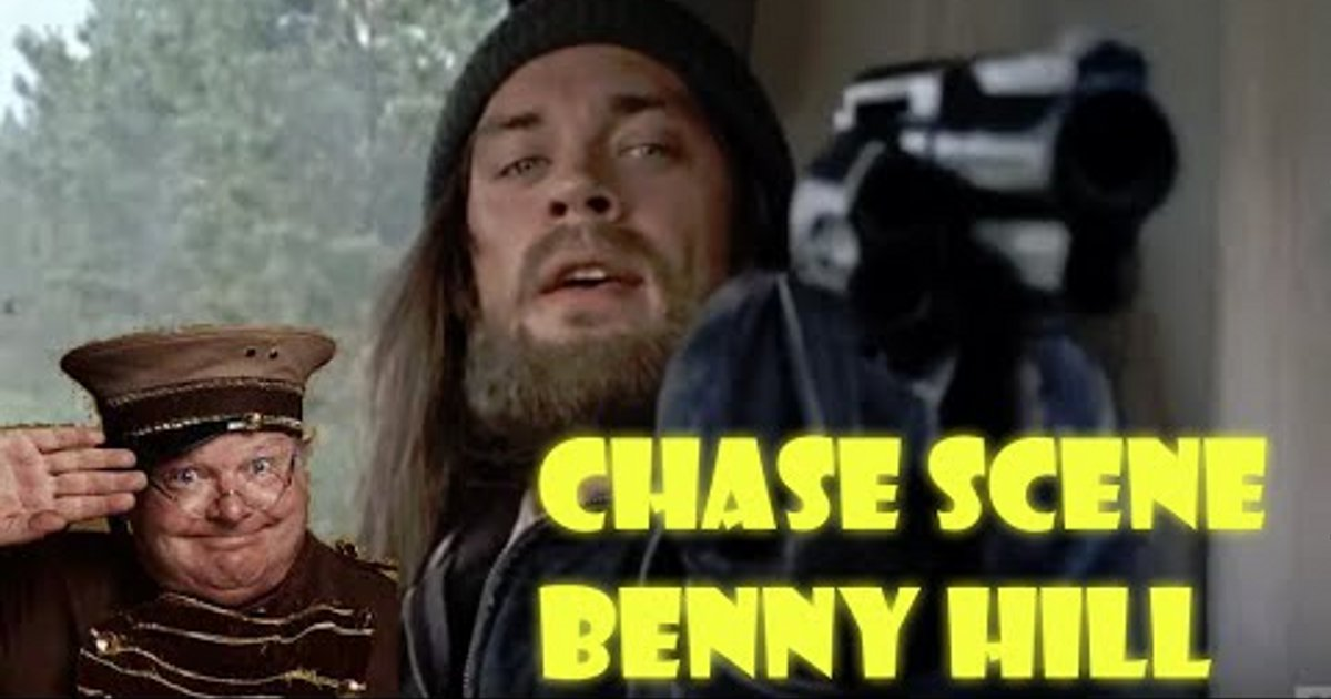 Watch: The Walking Dead Chase Scene With Benny Hill Music