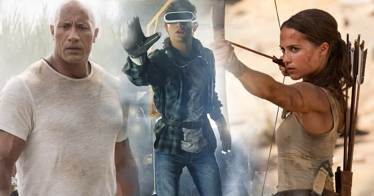 New Tomb Raider, Rampage, Ready Player One & Rampage Spots & Featurettes