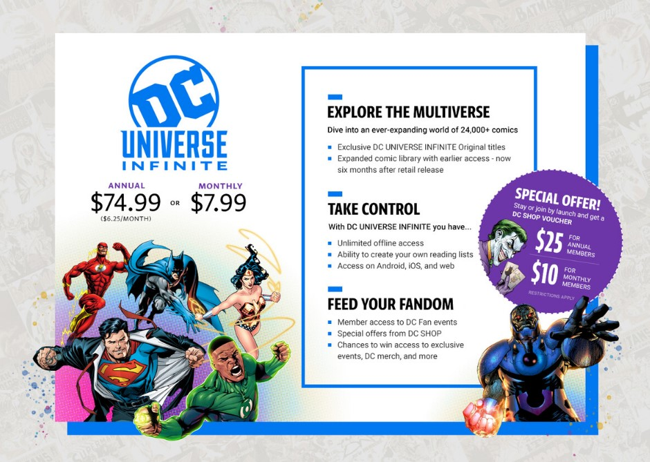 DC Universe Infinite subscription