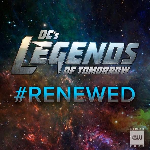 Legends of Tomorrow renewed