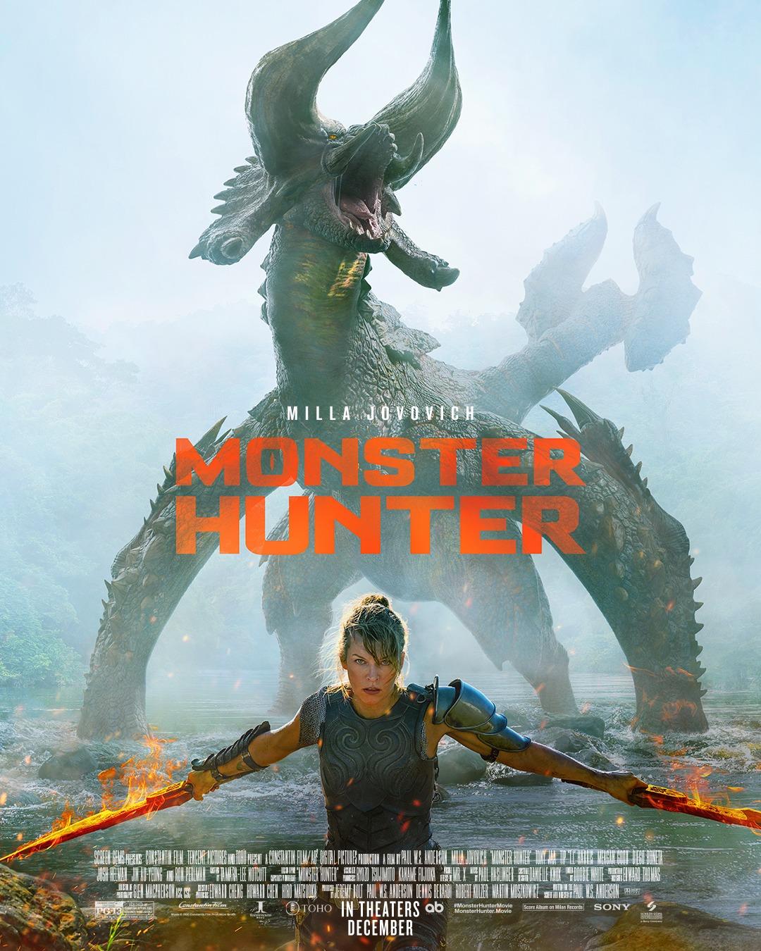 Monster Hunter Poster Milla Jovovich