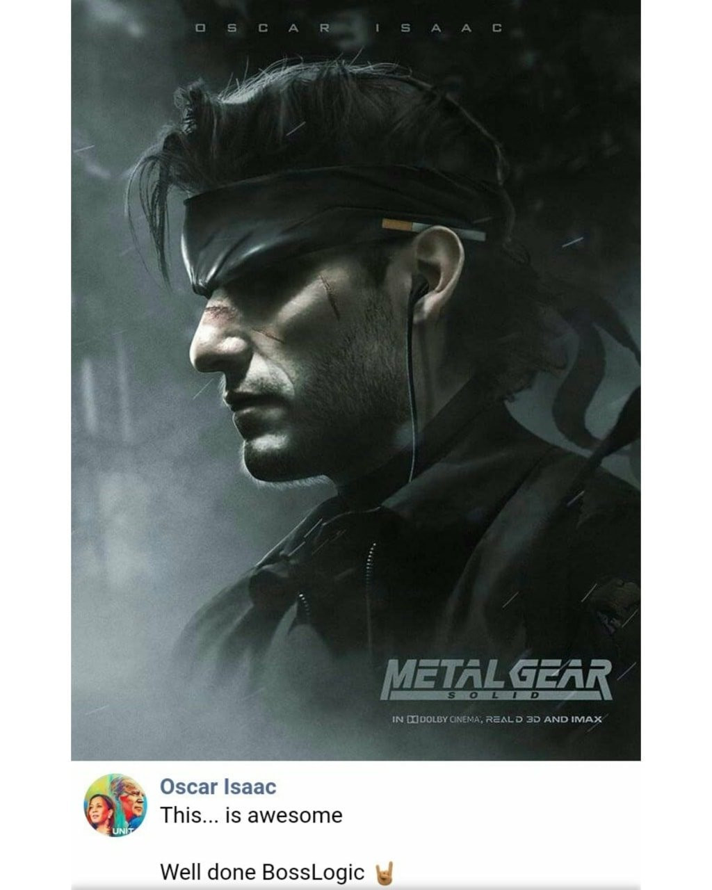 Oscar Isaac Solid Snake Metal Gear Fan Art