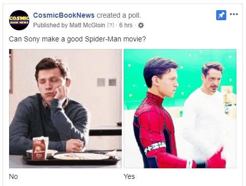 Sony Spider-Man poll cosmic book news