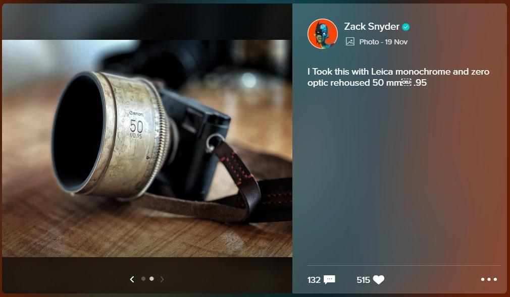 Zack Snyder Joe Manganiello Deathstroke camera
