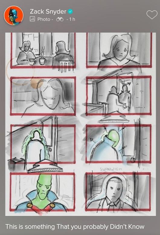 Martian Manhunter storyboard Snyder Cut