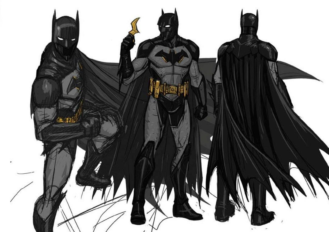 Black Batman concept art