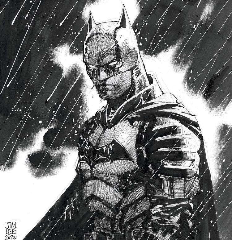 The Batman Robert Pattinson Jim Lee Art