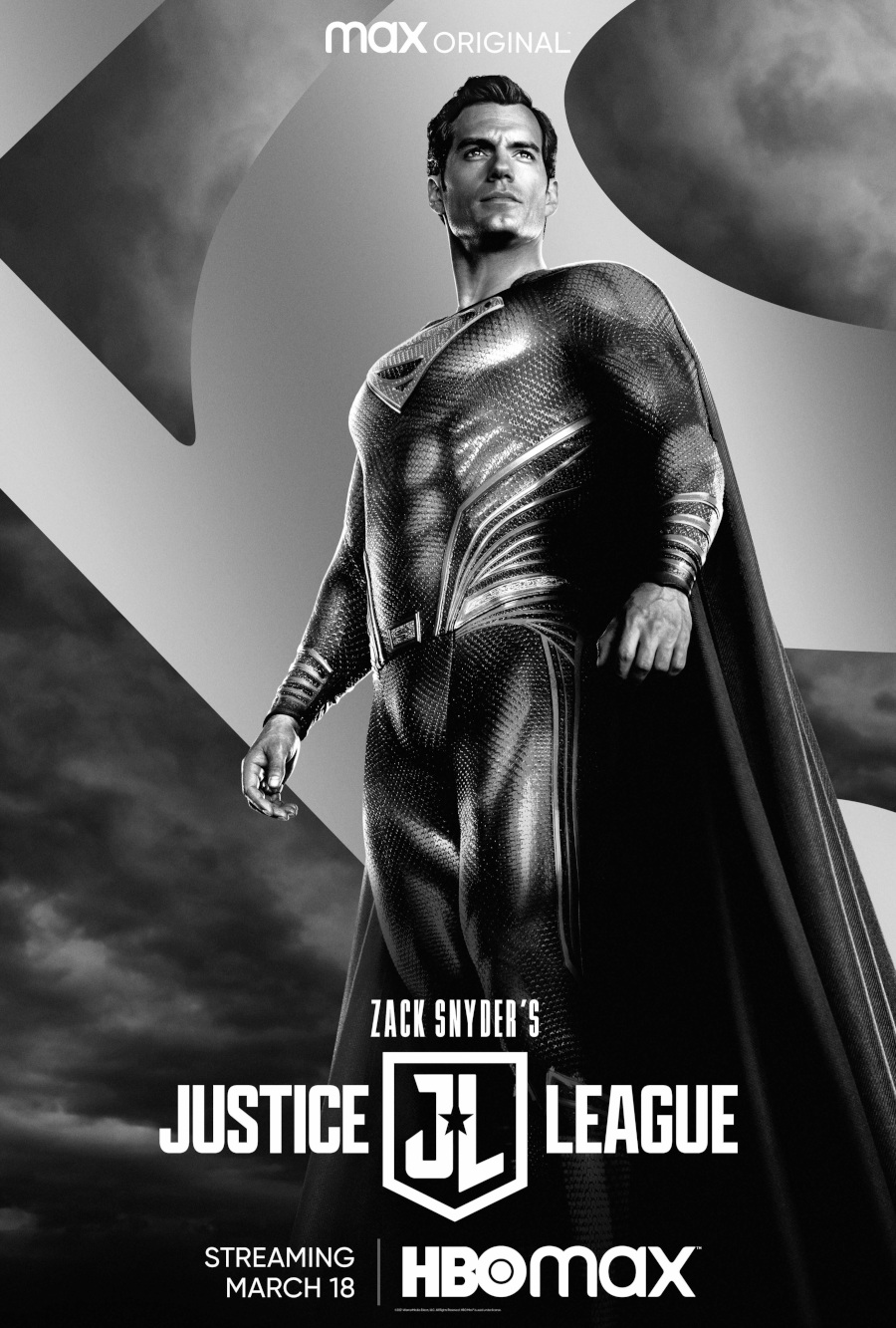 Superman Henry Cavill Zack Snyder's Justice league poster