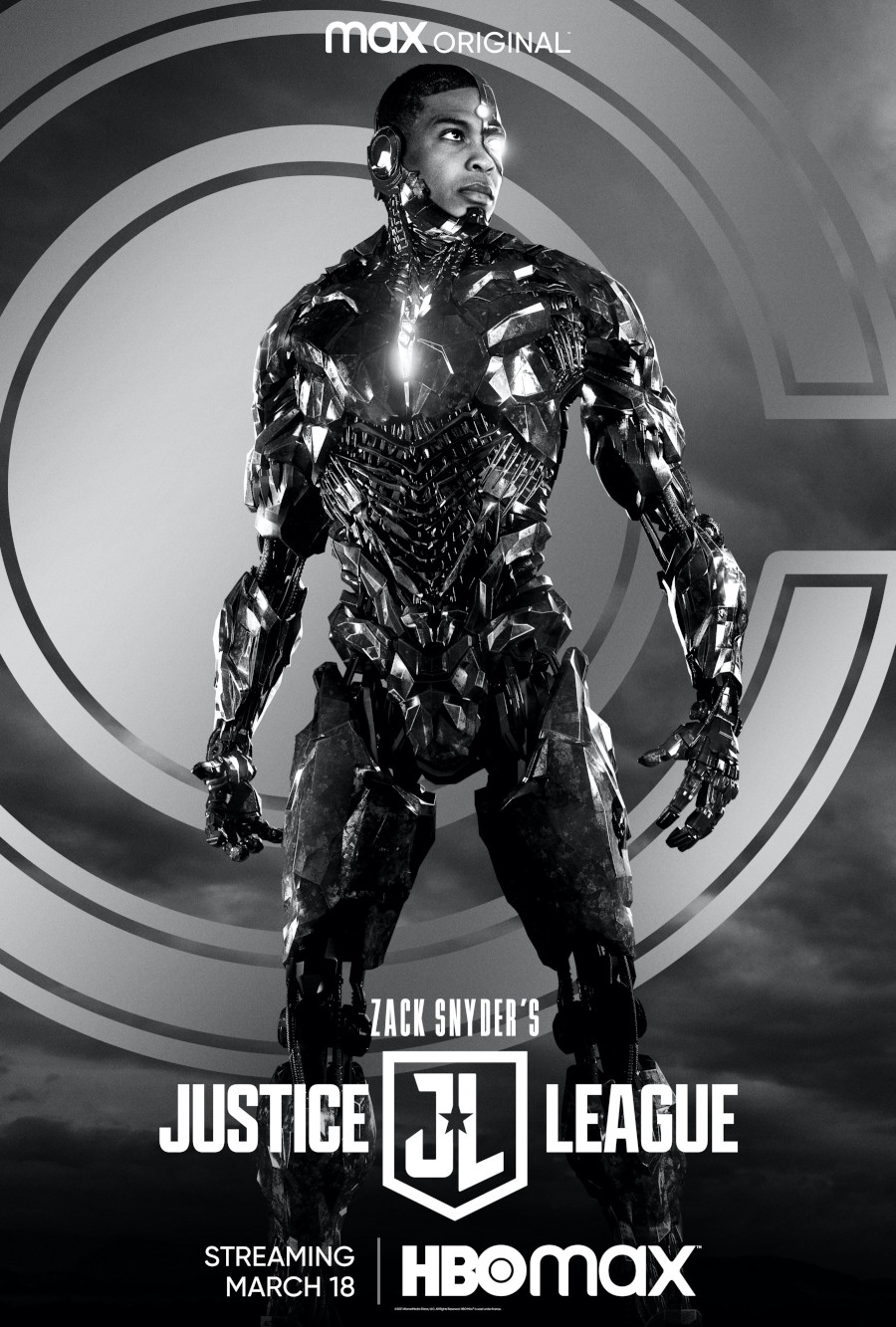 Ray Fisher Cyborg poster Zack Snyder's Justice League