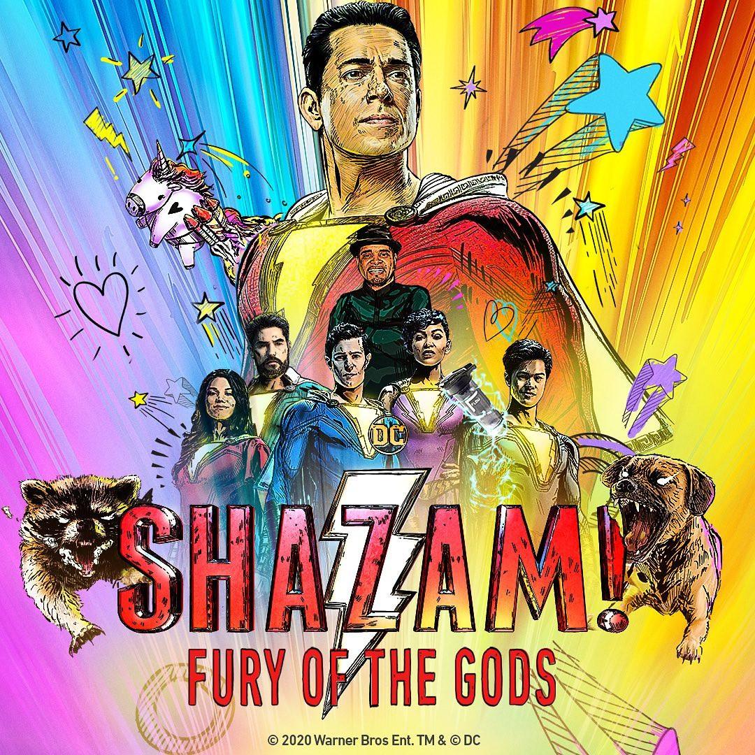 Shazam 2 Fury of the Gods poster Zachary Levi